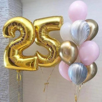 Шары на 25 лет