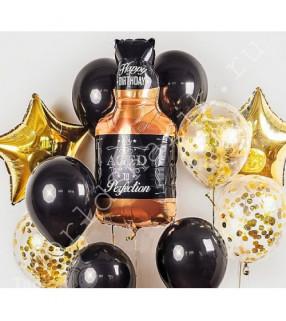 Композиции из шаров мужчине на день рождения с виски