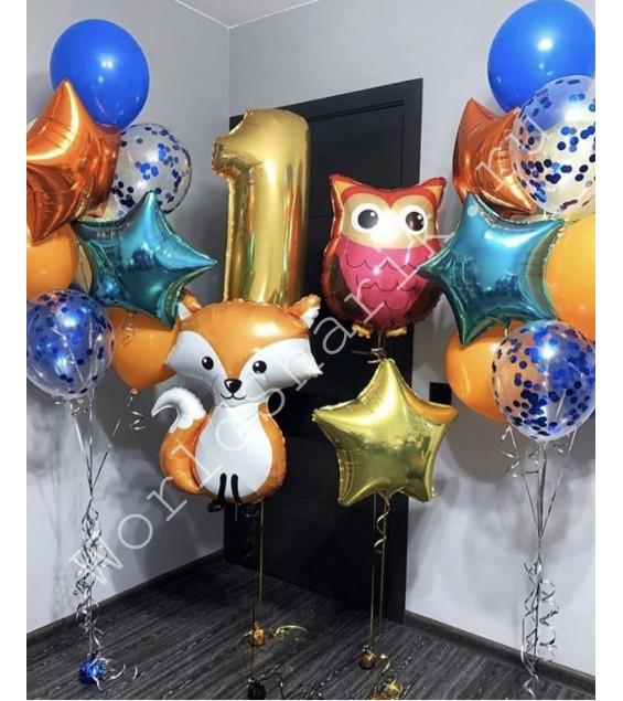 Воздушные шары животные на годик