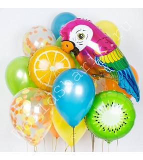 Воздушные шары с попугаем