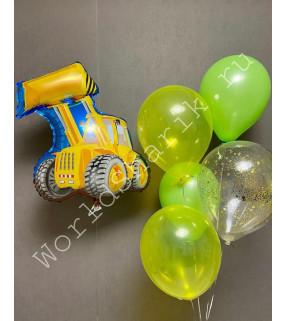 Композиция из шаров с Бульдозером