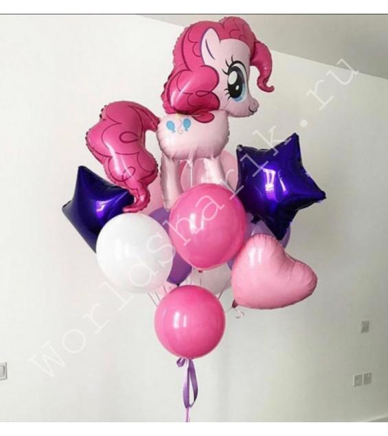 Фонтан с фольгированным шаром Литл Пони