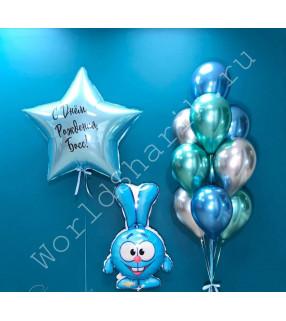 Воздушные шары смешарики Крош
