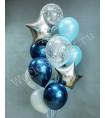 Композиция из шаров: Фонтан с звездами