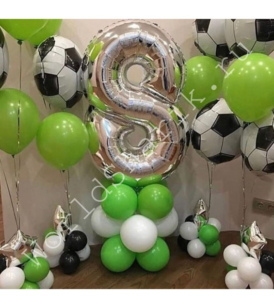 Воздушные шары в виде мячей на 8 лет
