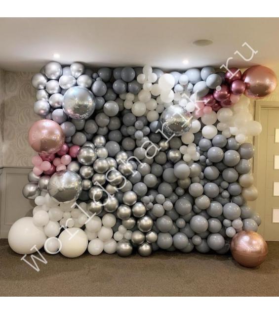 Стена из шаров для фотосессий