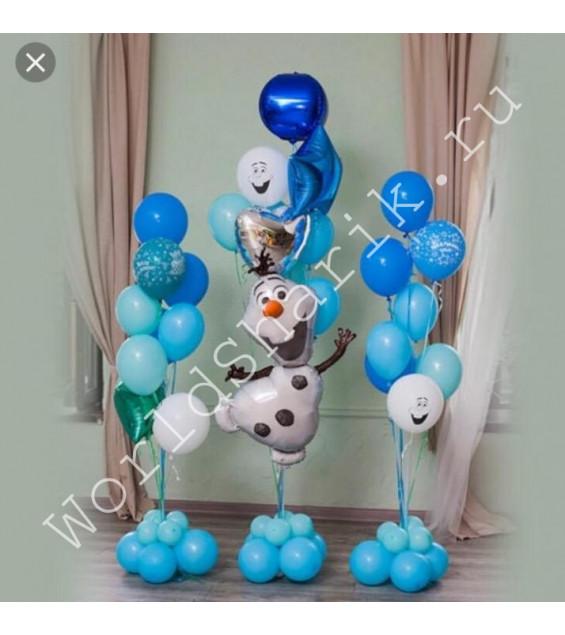 """Воздушные шары """"Холодное сердце"""" - снеговик Олаф"""
