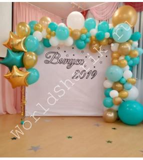 Фотозона из шариков на выпускной (арка и фонтан)