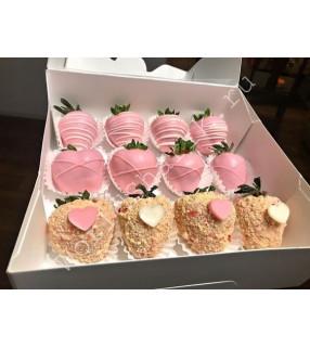 Букет клубники в коробке (20 ягод)