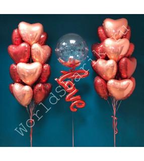 Композиция с воздушным шаром love