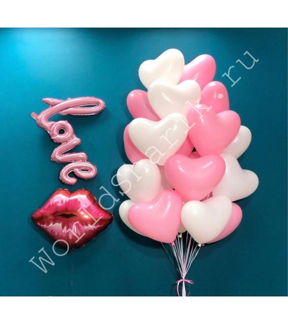 Воздушные шары с надписью Love