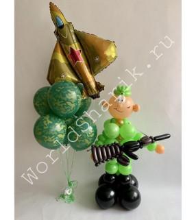 Композиция из шаров: Солдатик