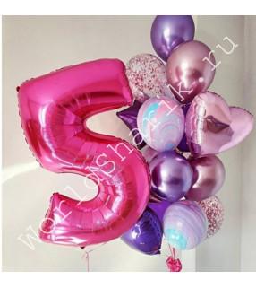 Композиция из шаров на 5 лет девочке