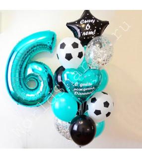 Воздушные шары с футбольными мячами
