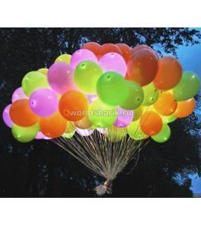 Светящиеся воздушные шары разноцветные