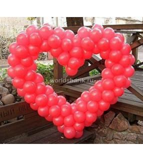 Сердце плетеное из воздушных шаров