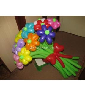 Цветочки из шаров разных цветов - 15шт. (премиум)