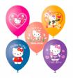 Воздушные шары, нарисованные Хелоу Китти