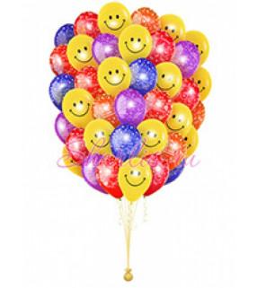 """Воздушные шарики """"Смайлики"""" и """"С Днем Рождения"""""""