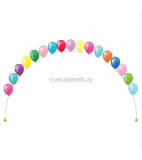 Гелиевая цепочка из шариков