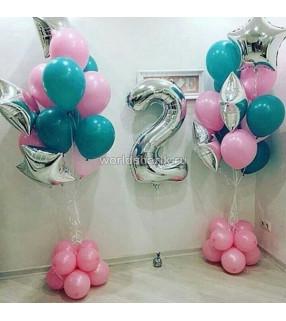 Оформления шарами дня рождения на 2 года