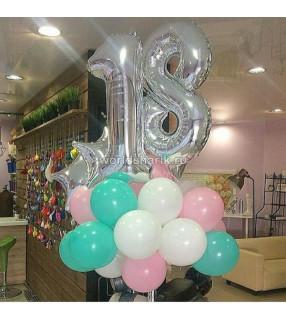 Оформления шарами дня рождения на 18 лет