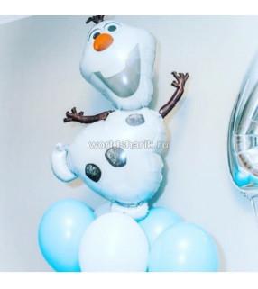 """Снеговик Олав фольгированный шарик """" Холодное сердце"""""""